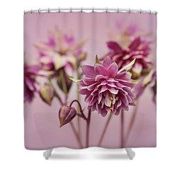 Pink Columbines Shower Curtain