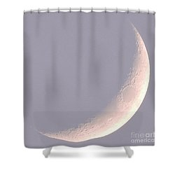 Pink Crescent Moon Shower Curtain
