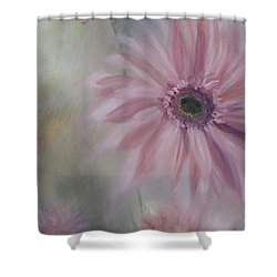 Shower Curtain featuring the painting Pink Daisies by Donna Tuten