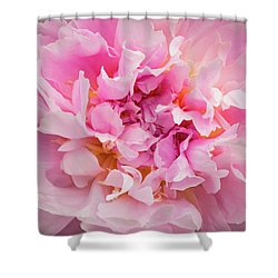 Pink Double Peony Shower Curtain