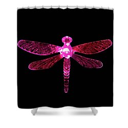 Pink Dragonfly Shower Curtain