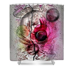 Shower Curtain featuring the digital art Pink Dreams By Nico Bielow by Nico Bielow