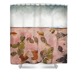 Pink Earth Shower Curtain by Carolyn Doe