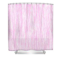 Pink Fiber Shower Curtain