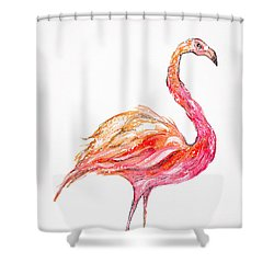 Pink Flamingo Bird Shower Curtain