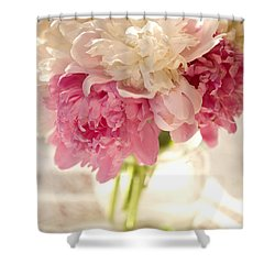 Pink Floal Shower Curtain by George Robinson