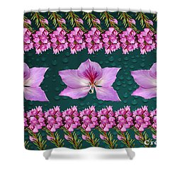 Pink Flower Arrangement Shower Curtain by Gary Crockett