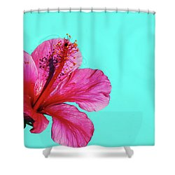 Pink Flower In Water Shower Curtain
