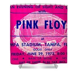 Pink Floyd Concert Ticket 1973 Shower Curtain