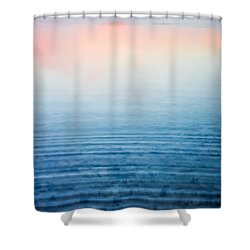 Pink Fog At Sunrise Shower Curtain by Shelby  Young