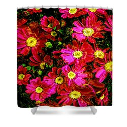 Pink Friends Shower Curtain by Phill Petrovic