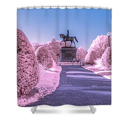 Pink Garden Shower Curtain
