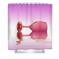 Pink Glass Shower Curtain by David French