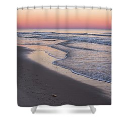 Pink Glow Seaside New Jersey 2017 Shower Curtain