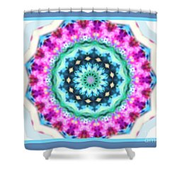 Pink Green Kaliedoscope Shower Curtain
