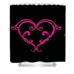 Pink Hearts  Shower Curtain by Swank Photography