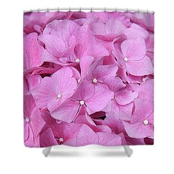 Pink Hydrangea Shower Curtain by Elvira Ladocki