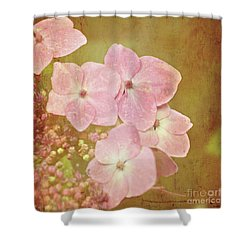 Shower Curtain featuring the photograph Pink Hydrangeas by Lyn Randle