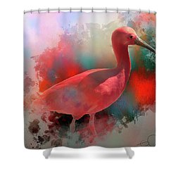 Pink Ibis Shower Curtain