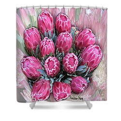 Pink Ice Shower Curtain by Nadine May