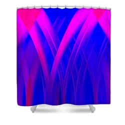 Shower Curtain featuring the digital art Pink Lacing by Carolyn Marshall