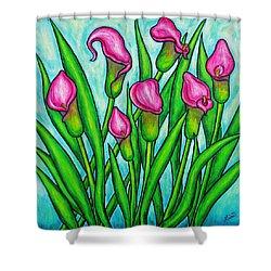 Pink Ladies Shower Curtain by Lisa  Lorenz