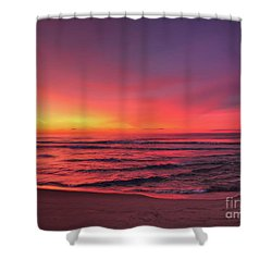 Pink Lbi Sunrise Shower Curtain
