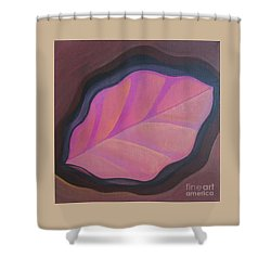 Pink Leaf Shower Curtain