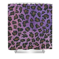 Shower Curtain featuring the painting Pink Leopard by Nan Wright