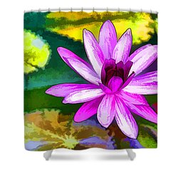 Pink Lotus Gallery  Shower Curtain by Lanjee Chee
