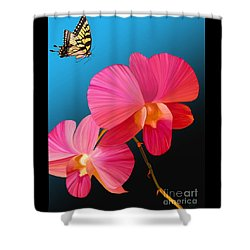 Pink Lux Butterfly Shower Curtain