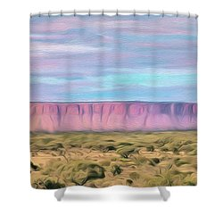 Pink Mesa Shower Curtain