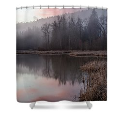 Pink Mists Shower Curtain
