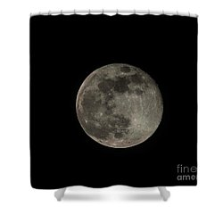 Shower Curtain featuring the photograph Pink Moon by David Bearden