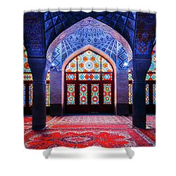 Pink Mosque, Iran Shower Curtain