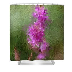 Pink Nature Abstract Shower Curtain by David Lane
