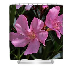Pink Oleander Shower Curtain