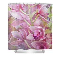 Shower Curtain featuring the photograph Pink Orchids by Ann Bridges