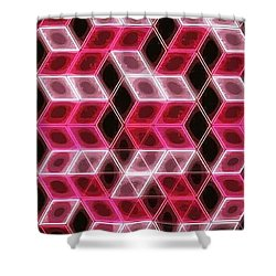 Pink Ortho Shower Curtain