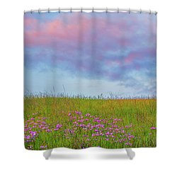 Pink  Over Pink  Shower Curtain by Marc Crumpler