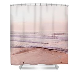 Shower Curtain featuring the photograph Pink Pacific Beach by Bonnie Bruno