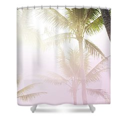 Shower Curtain featuring the photograph Pink Palms by Cindy Garber Iverson