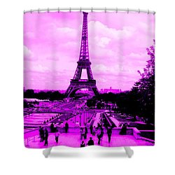 Shower Curtain featuring the photograph Pink Paris by Michelle Dallocchio