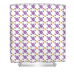 Pink Pattern With Ducks Shower Curtain