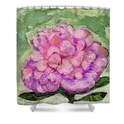 Pink Peony Shower Curtain