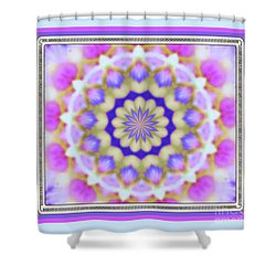 Pink Petals Framed Shower Curtain
