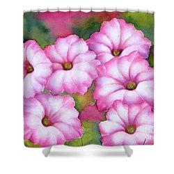 Pink Petunias Shower Curtain