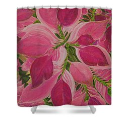 Pink Poinsettia Shower Curtain