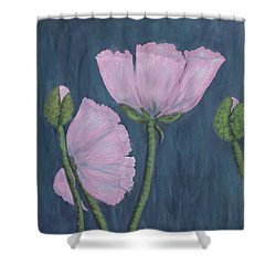 Pink Poppies Shower Curtain by Kathleen McDermott
