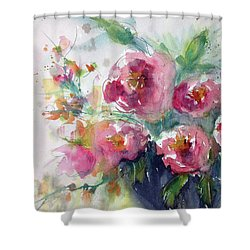 Pink Pops Shower Curtain